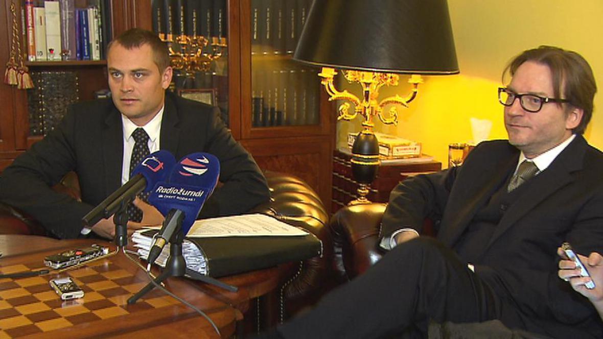Adam Černý a Roman Jelínek