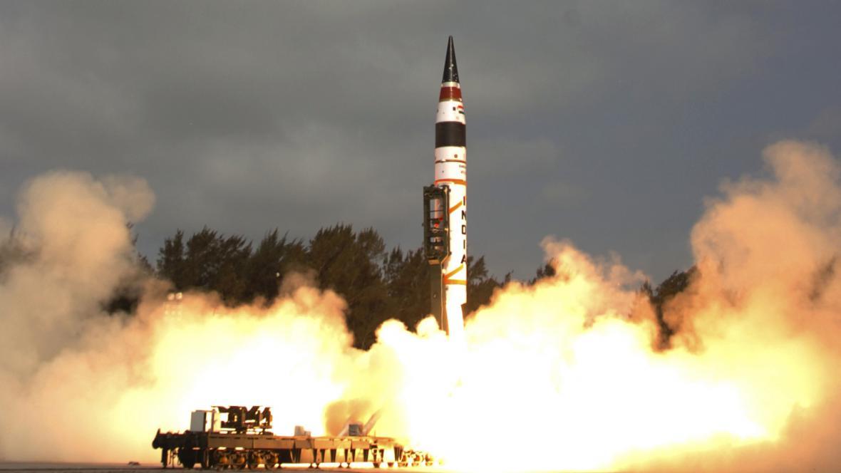 Start rakety Agni-V