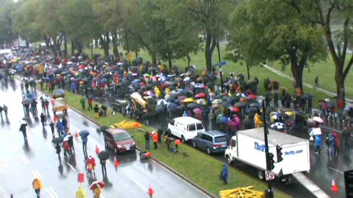 Kanaďané protestují proti vysokému školnému