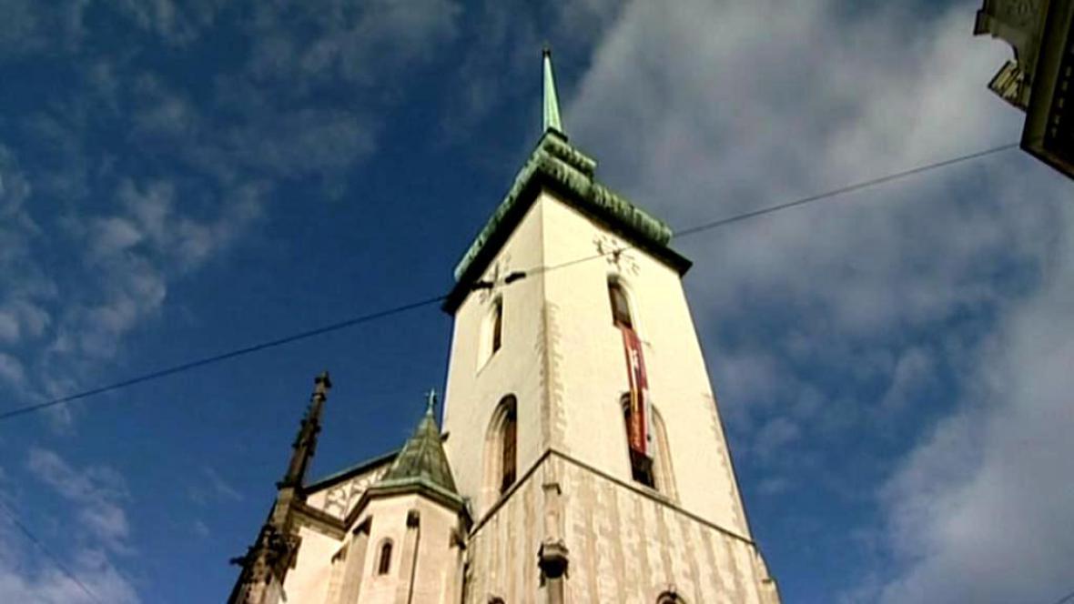 Věž kostela sv. Jakuba v Brně