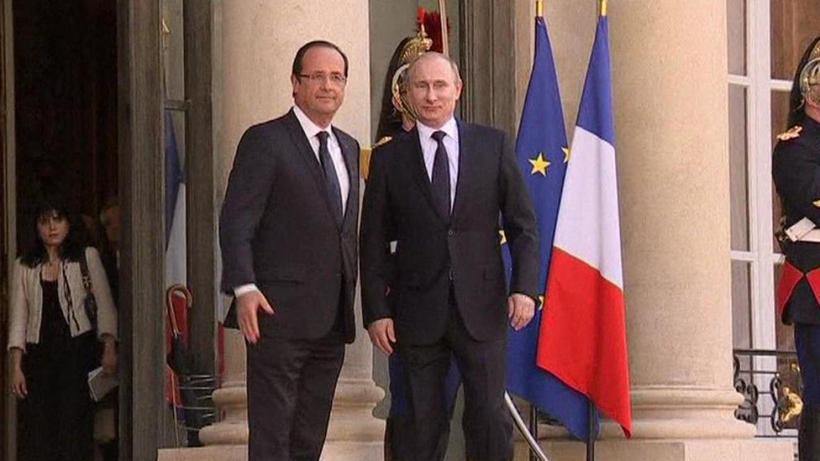 François Hollande a Vladimir Putin