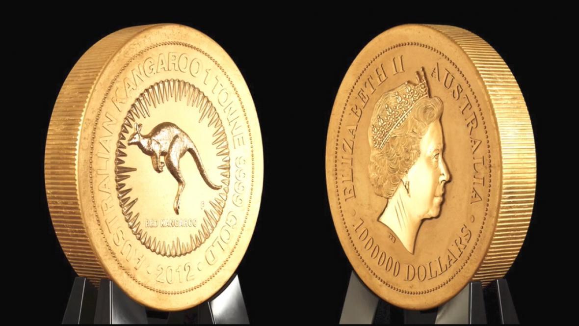 Rekordní zlatá mince váží jednu tunu