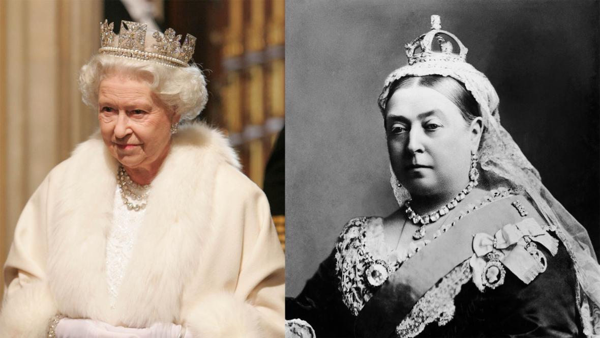 Královny Alžběta II. a Viktorie