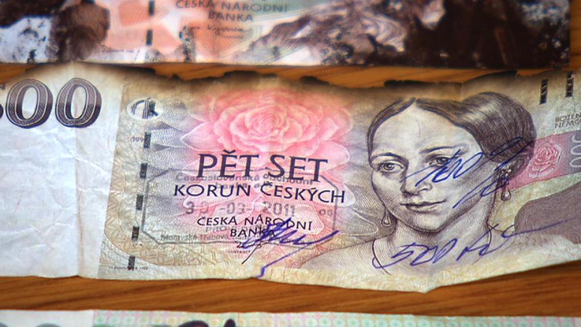 Poničené bankovky