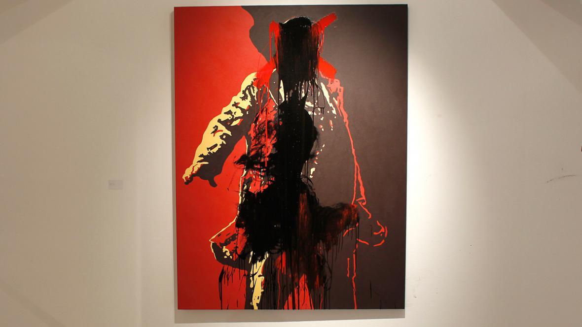 Zhanobený portrét Jacoba Zumy