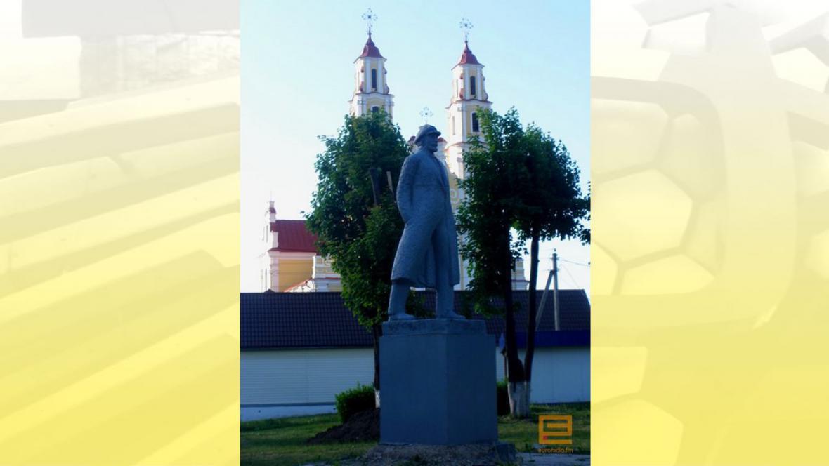 Socha Lenina ve městě Glybokoje
