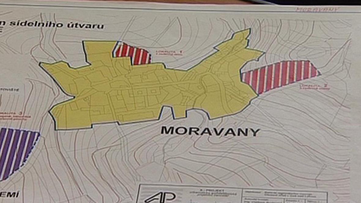Katastrální území Moravany