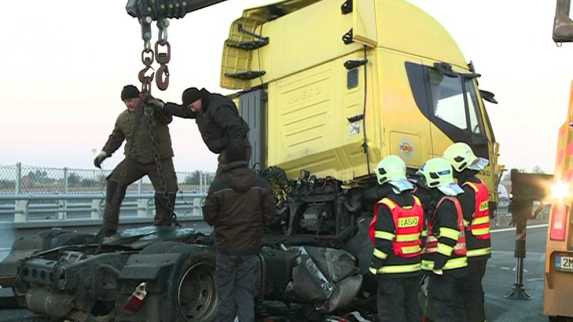 Havarovaný kamion