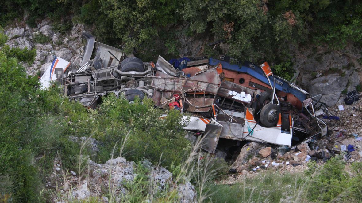 Nehoda autobusu v Albánii