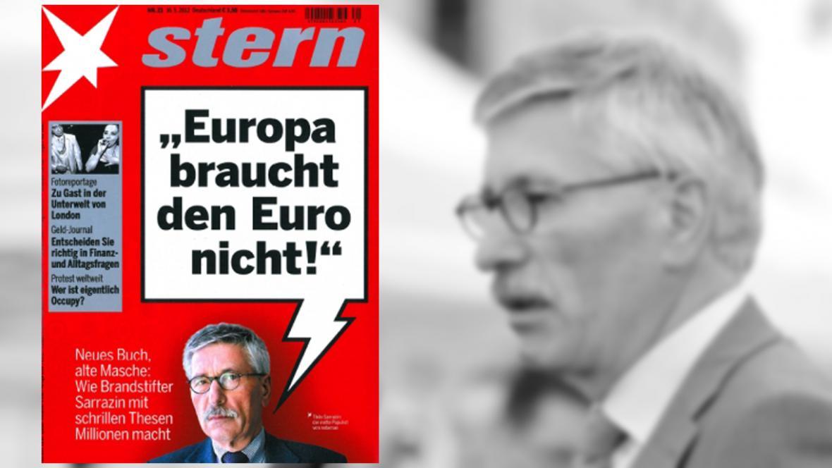 Thilo Sarrazin: Evropa euro nepotřebuje