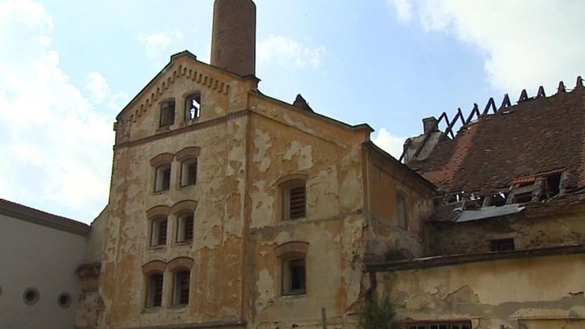 Ruina pivovaru v Jindřichově Hradci