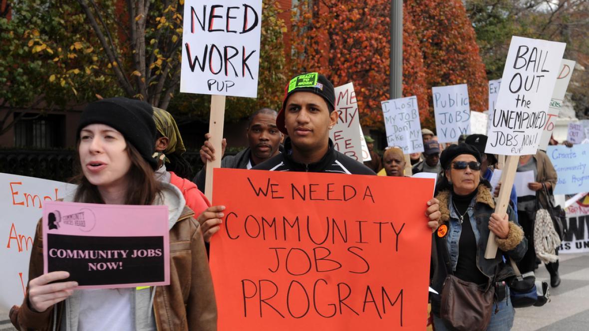 Protest amerických nezaměstnaných