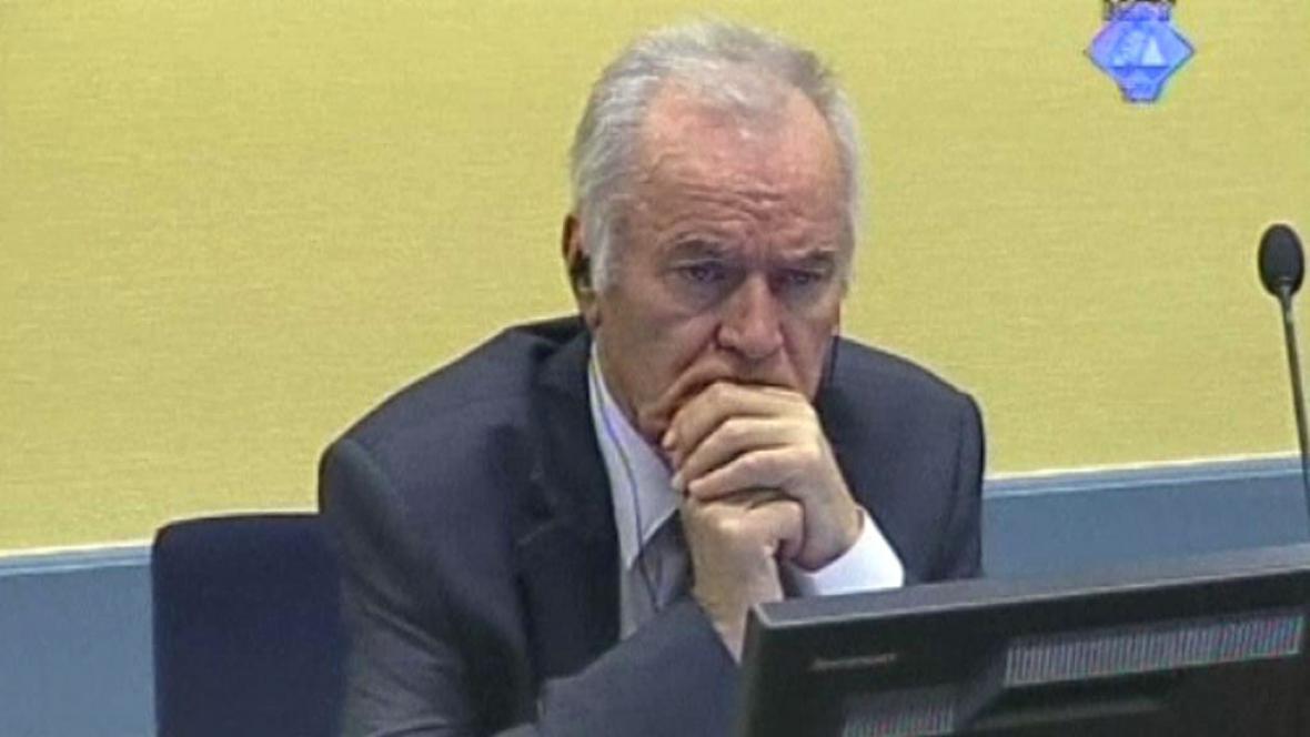 Ratko Mladić u soudu v Haagu