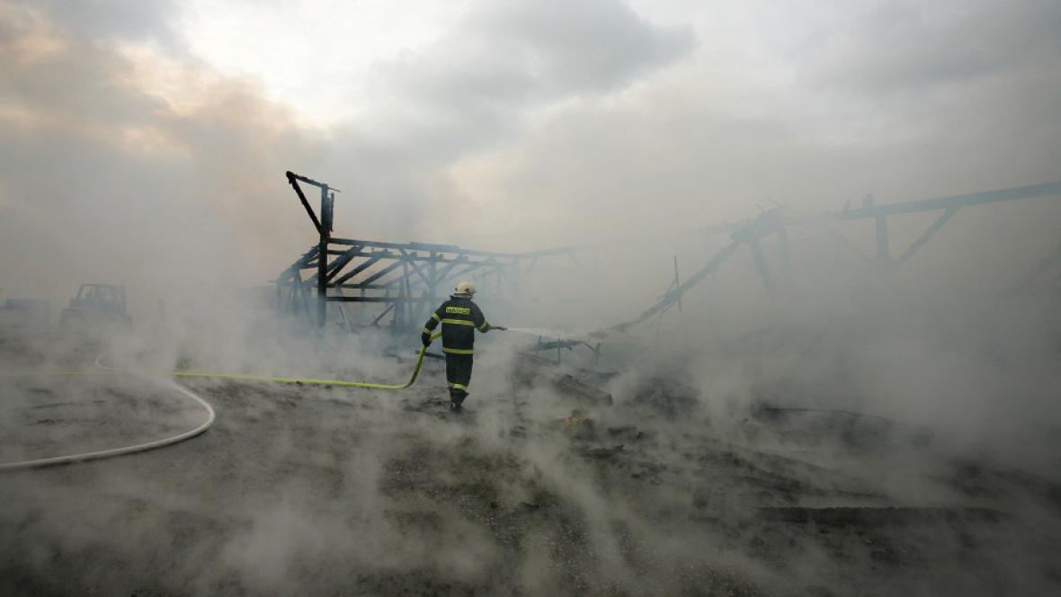Požár tesařské dílny