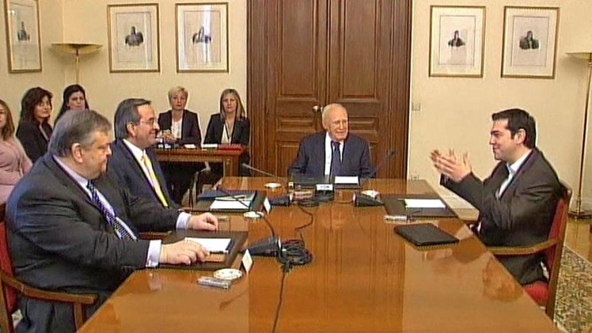 Evangelos Venizelos, Antonis Samaras, Karolos Papulias a Alexis Tsipras