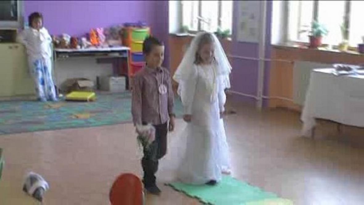 Svatba na ZŠ Poběžovice