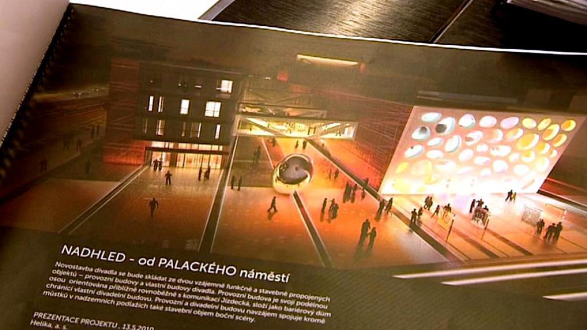 Návrh nové budovy plzeňského divadla