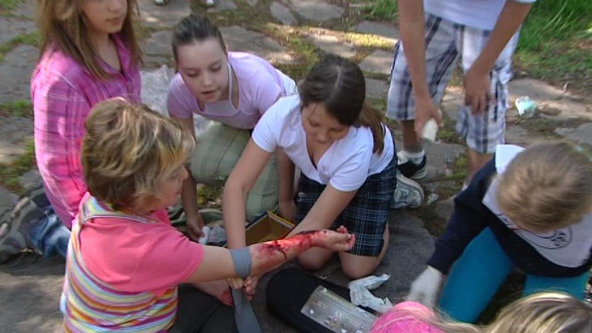 Mladí zdravotníci v akci
