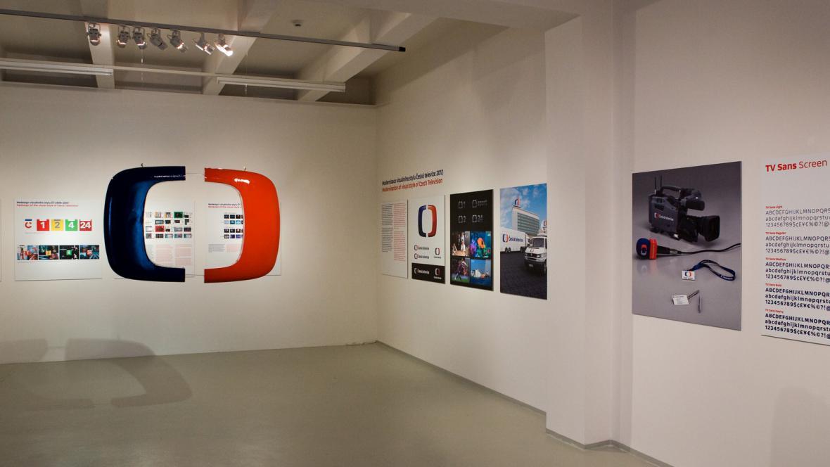 Výstava Vizuální styl České televize 1963 až 2012