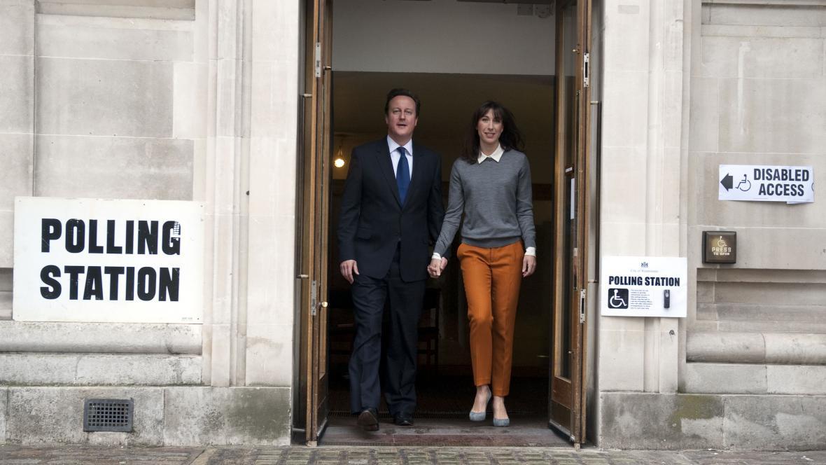 David Cameron a jeho manželka Samantha