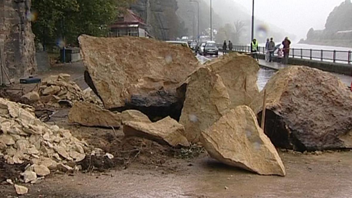 Úlomky skal ve Hřensku