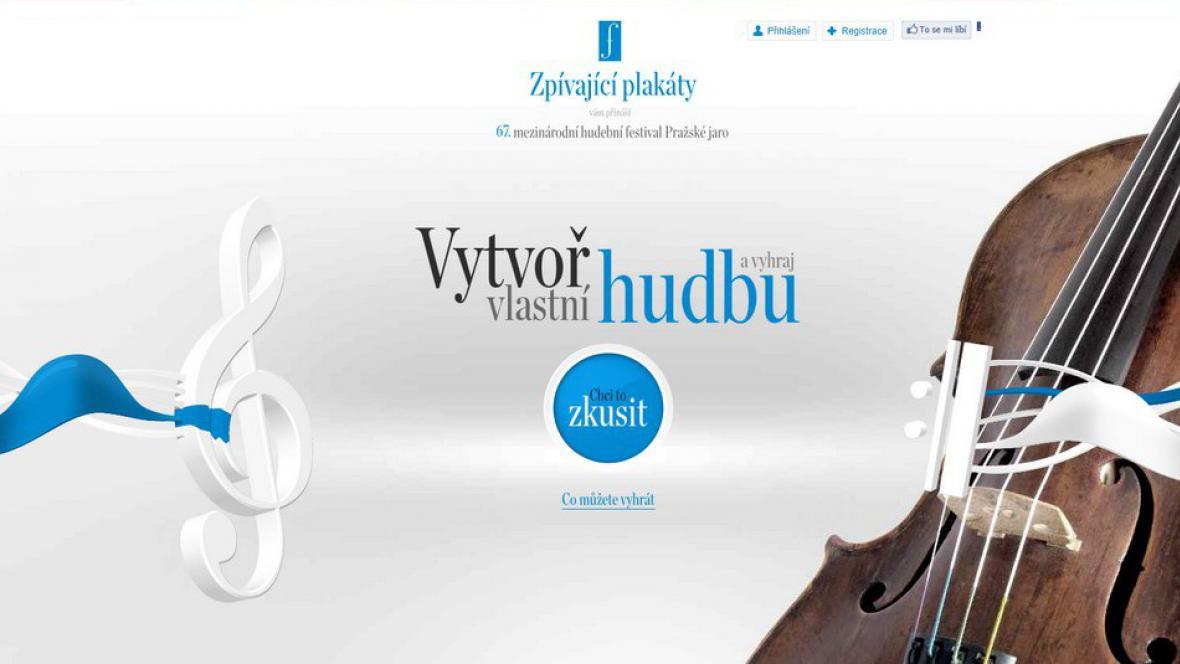Webová stránka / Zpívající plakáty