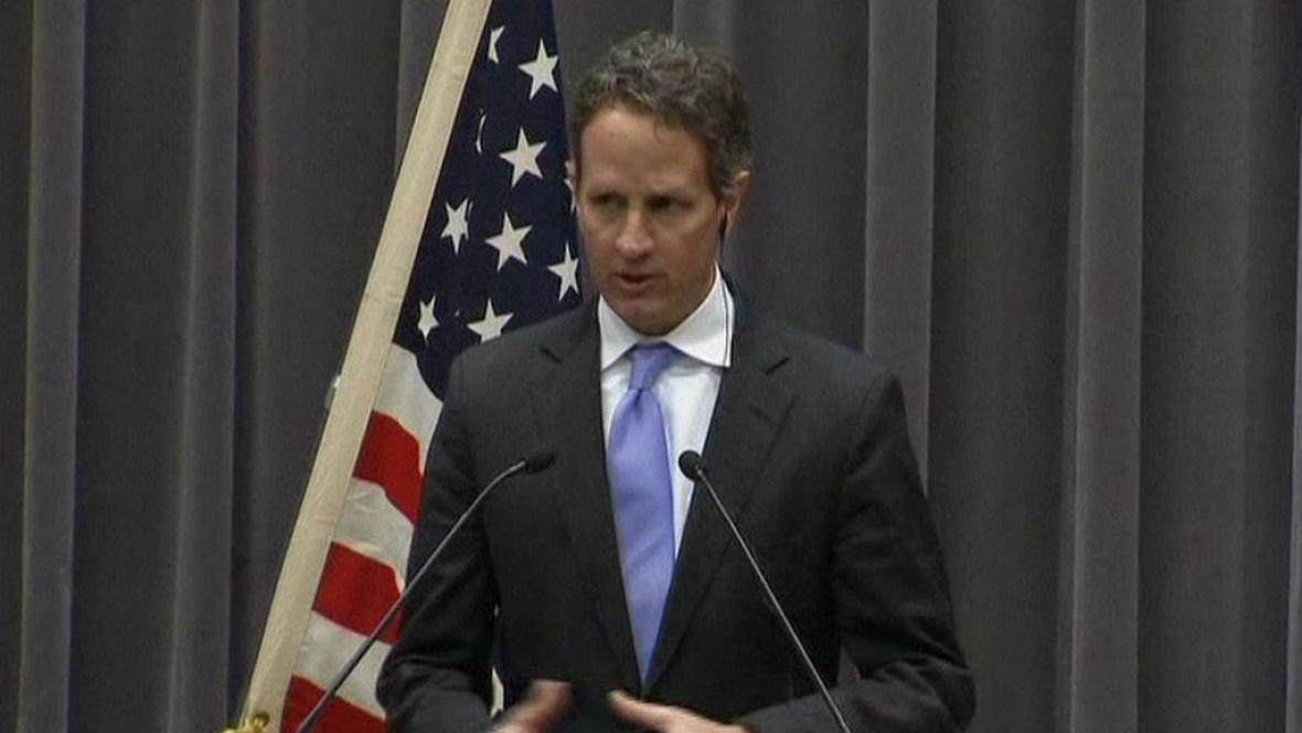 Ministr financí USA Timothy Geithner