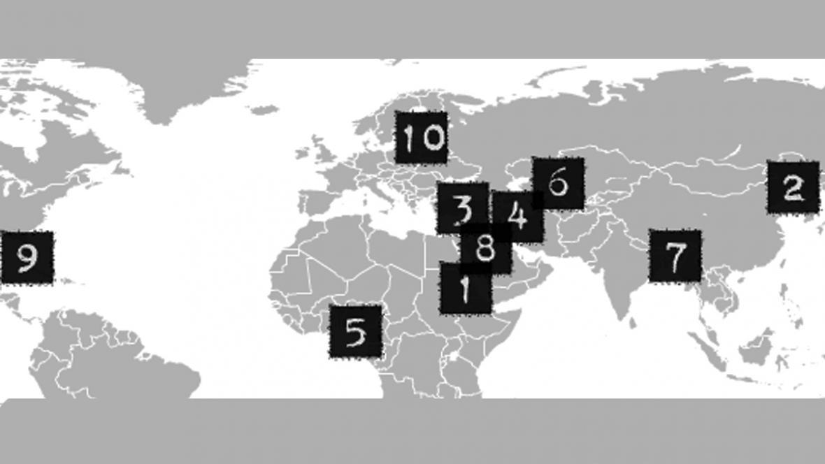 Země s nejtvrdší cenzurou podle CPJ