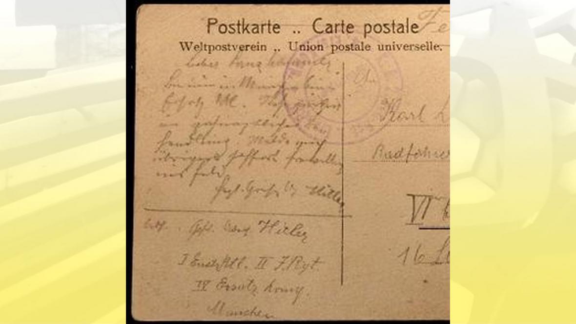 Hitlerova pohlednice