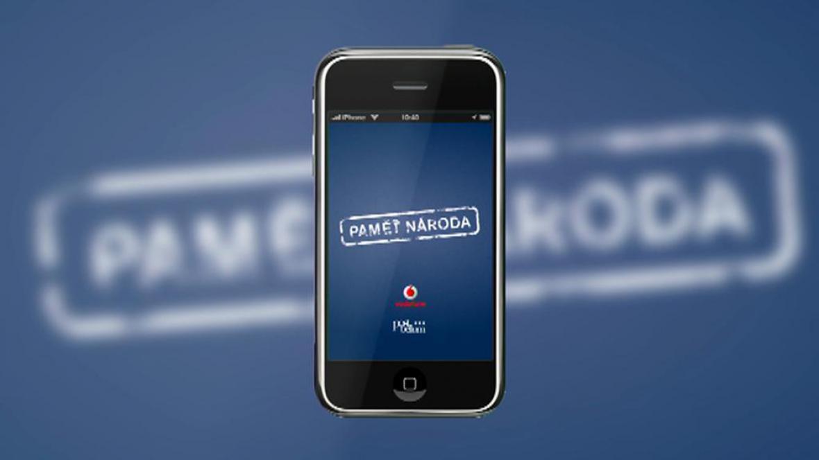 Aplikace Paměť národa pro chytré telefony