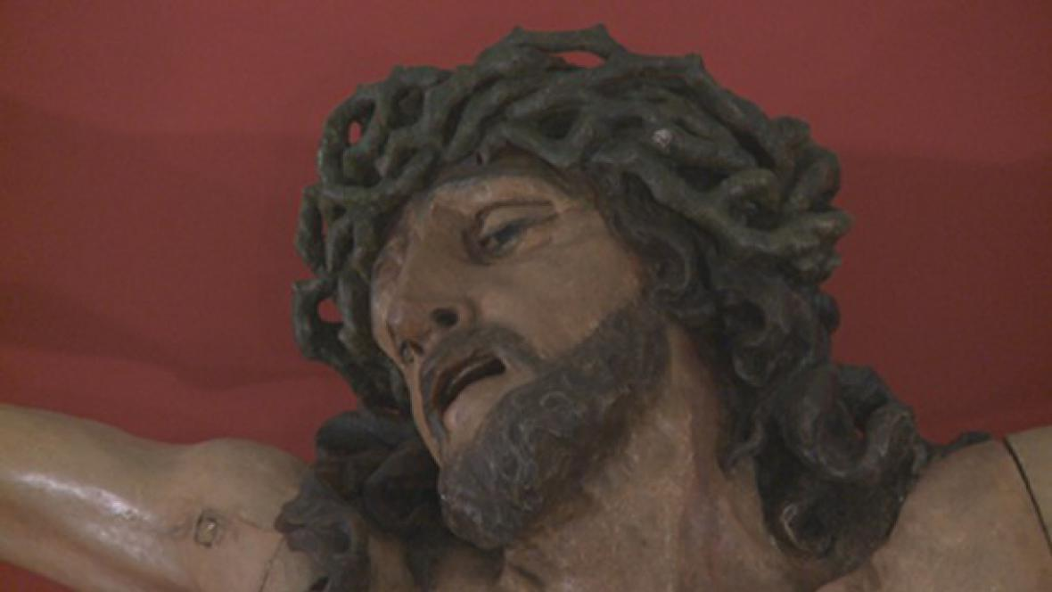 Matyáš Bernard Braun / Ukřižovaný z kláštera v Plasích (detail)
