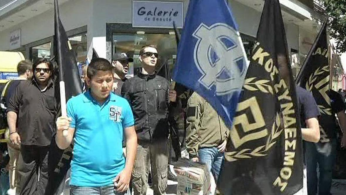 Příznivci řecké extrémní pravice