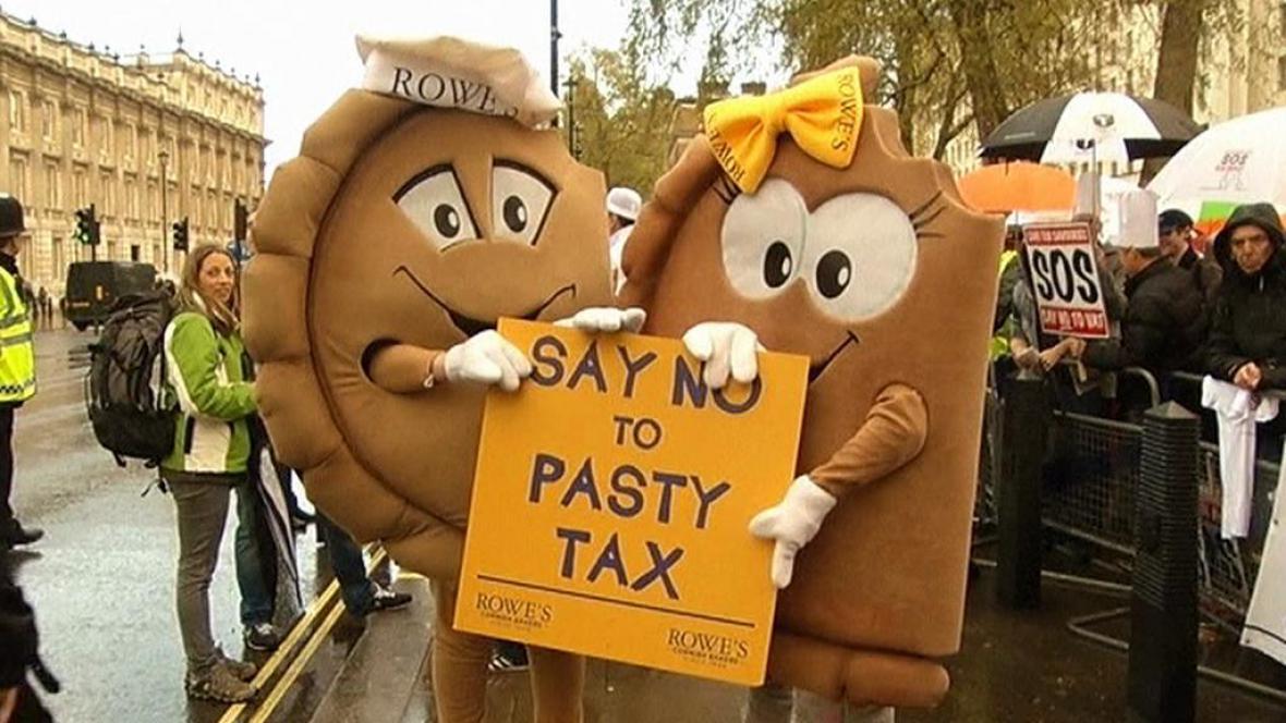 Demonstrace proti pečivové dani