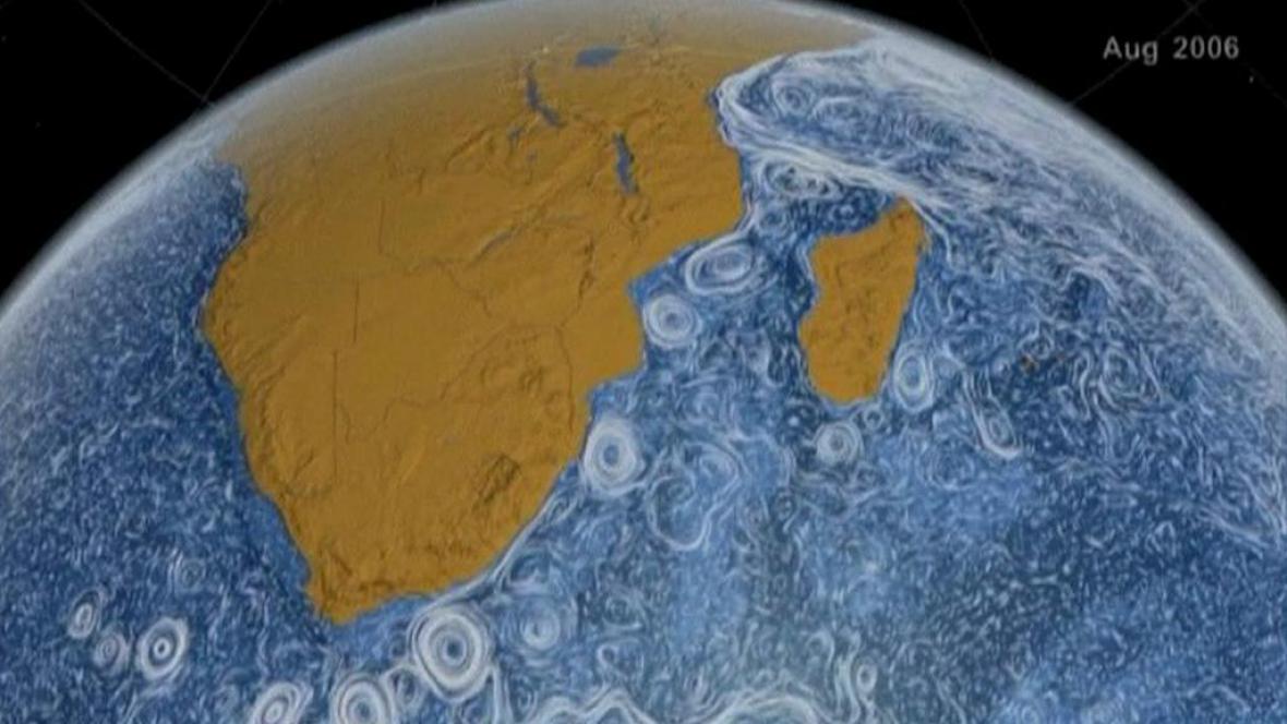 Animace NASA Perpetual Ocean