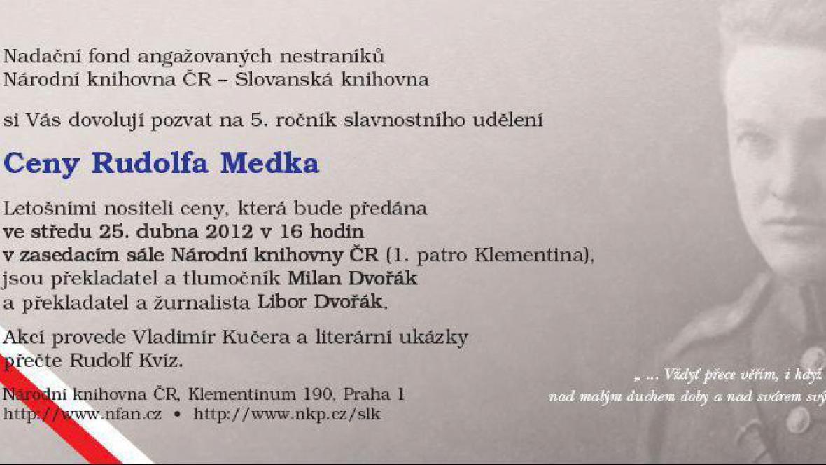 Cena Rudolfa Medka / pozvánka
