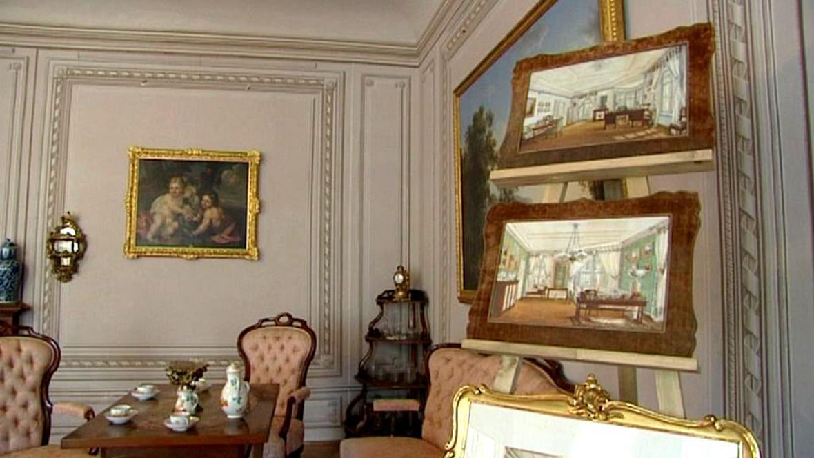 Zámecký interiér 19. století
