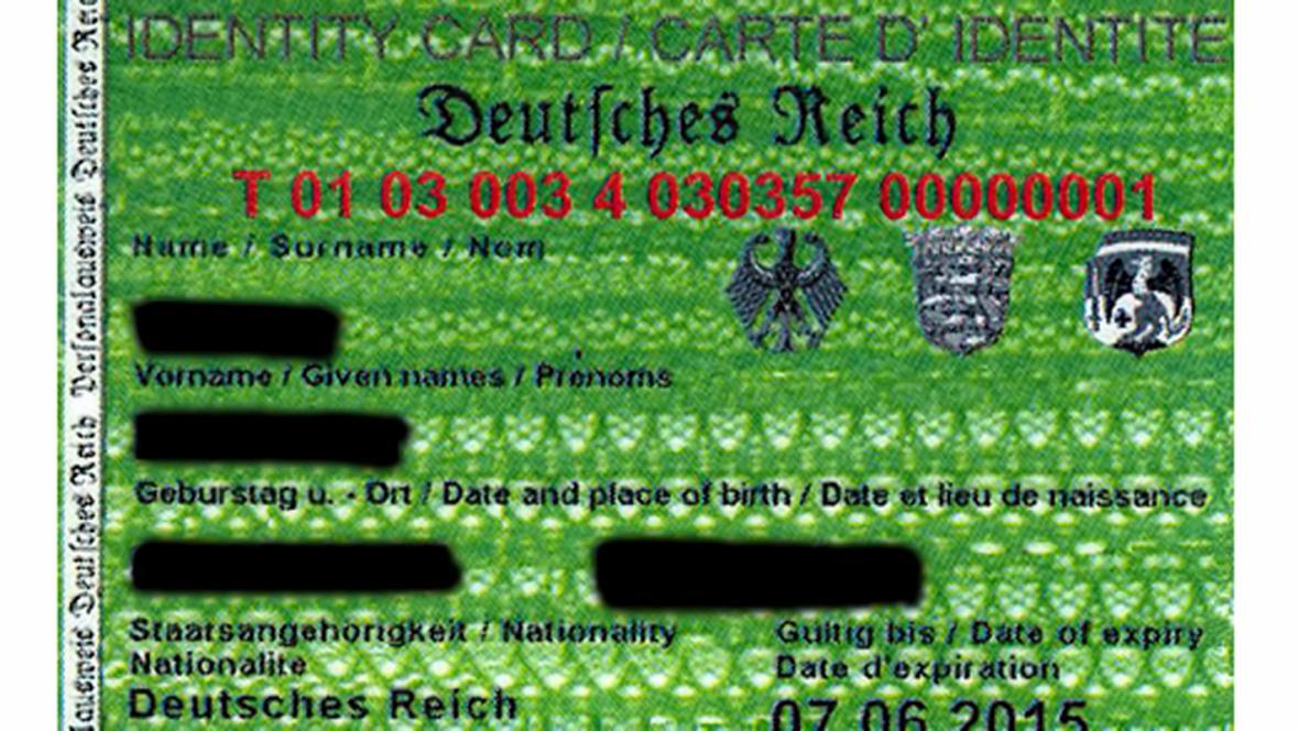 Říšské doklady předložené policii v Traunsteinu