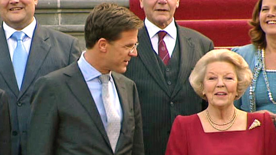 Mark Rutte a královna Beatrix