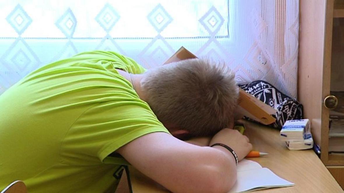 Vyčerpaný student