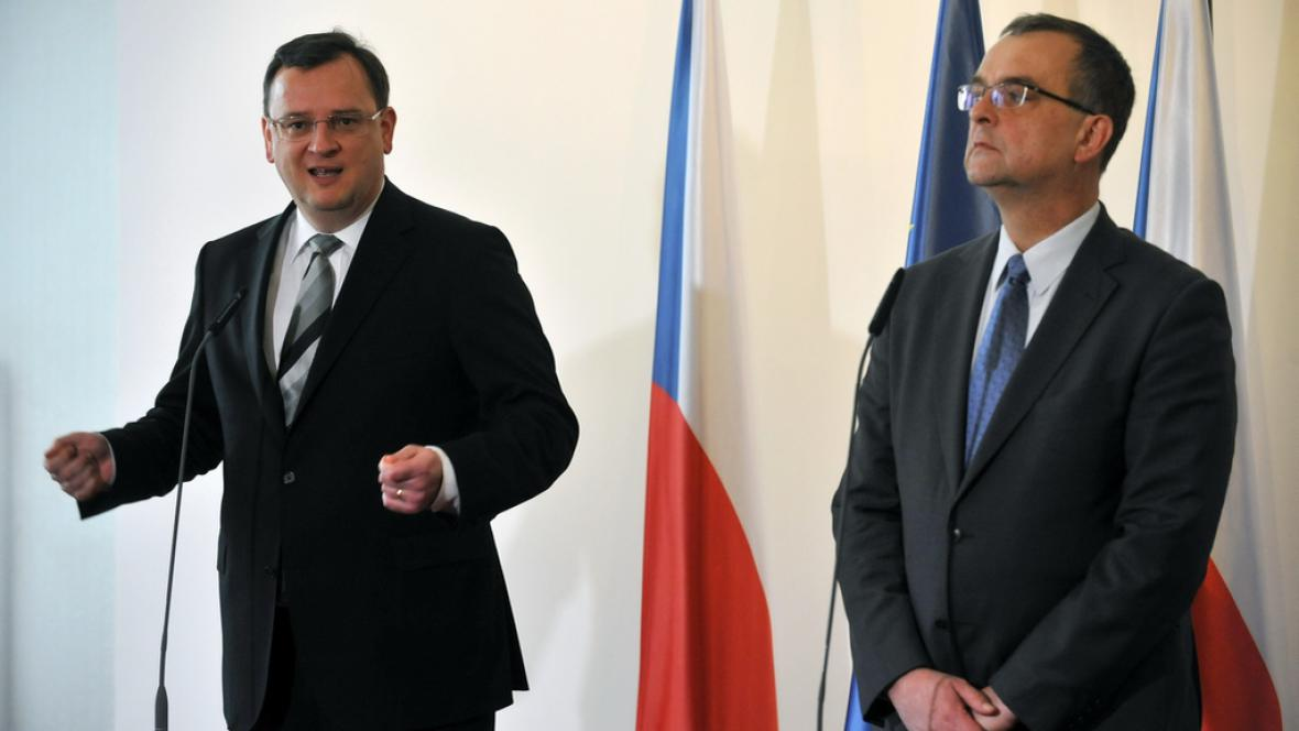 Petr Nečas s Miroslavem Kalouskem