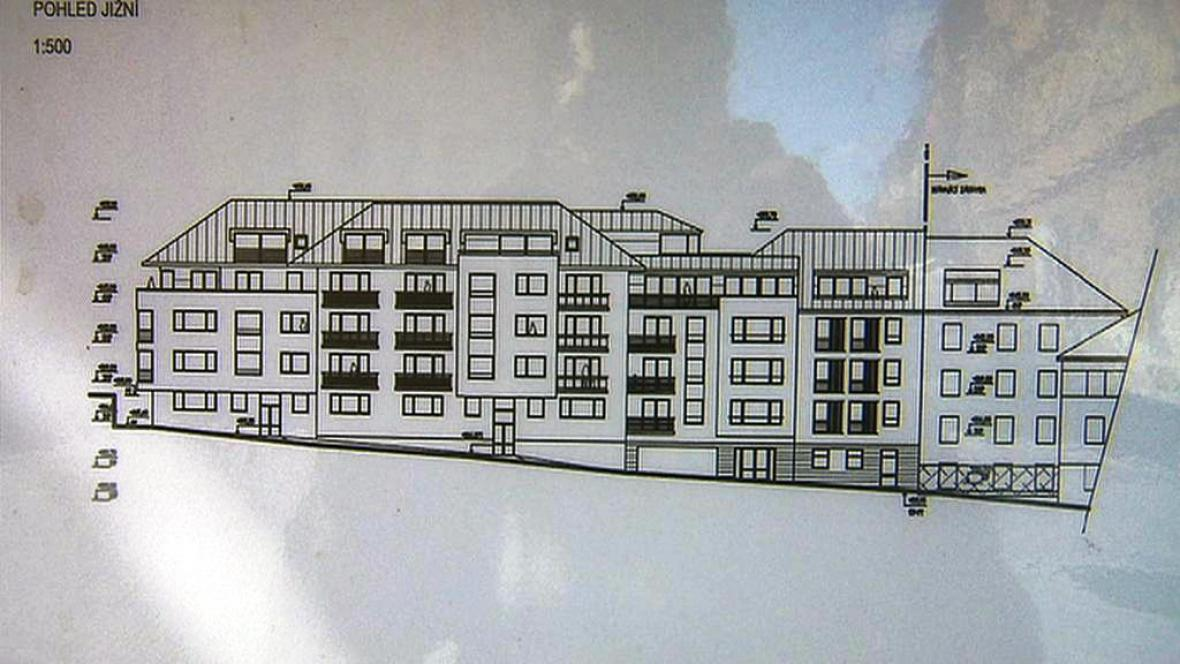 Plán stavby domu na Tejnce