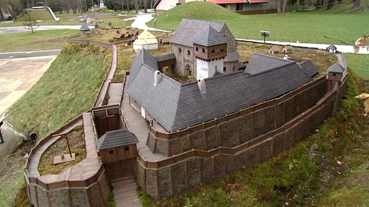 Miniatura hradu Plzeň