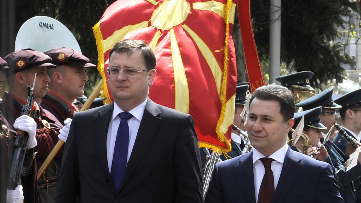 Petr Nečas a Nikola Gruevski