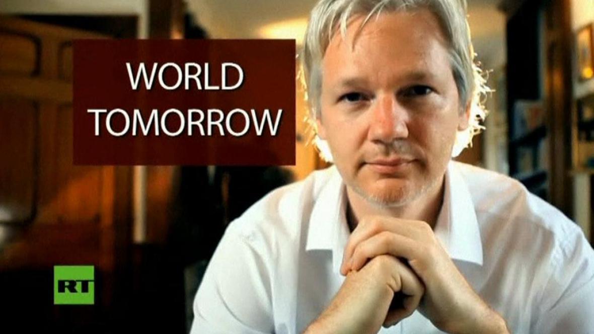 Julian Assange ve své vlastní talk-show