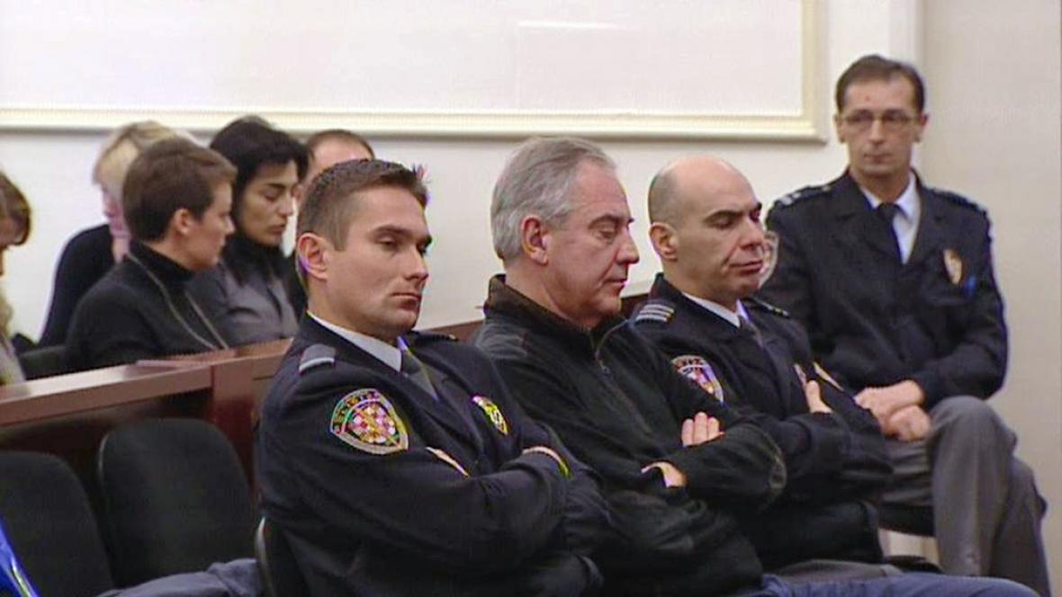 Ivo Sanader před soudem