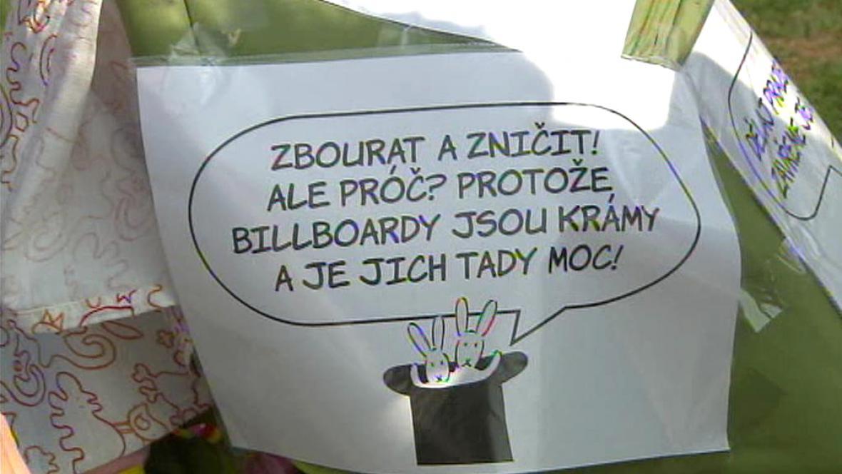 Dětský happening proti billboardům