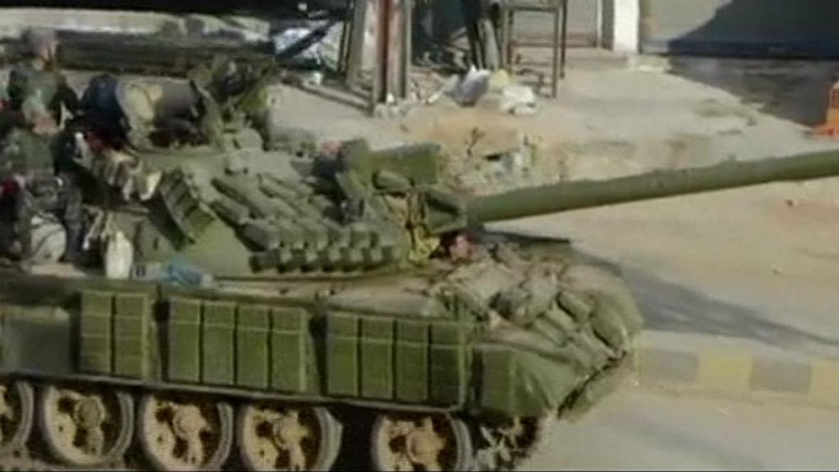 Tank v Sýrii