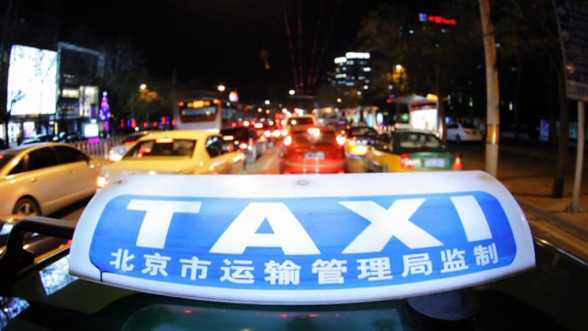 Taxík v Pekingu