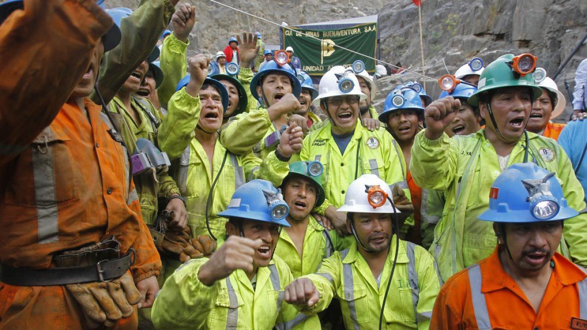 Vyproštění peruánští horníci