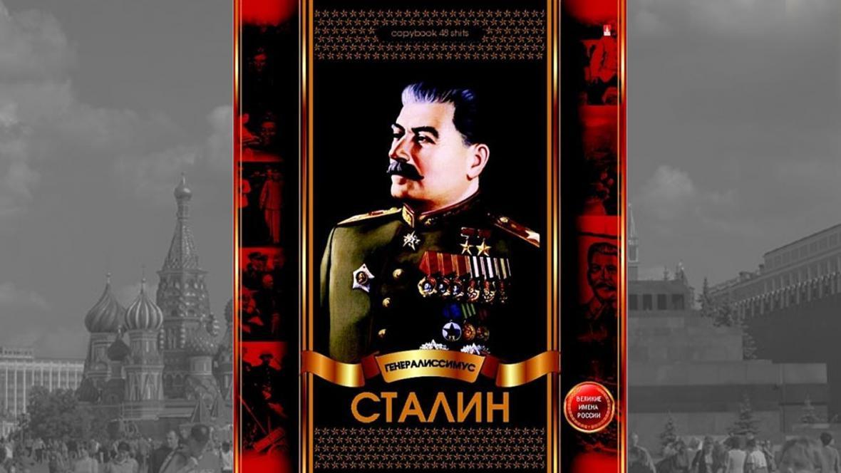 Stalin na obálce ruských školních sešitů